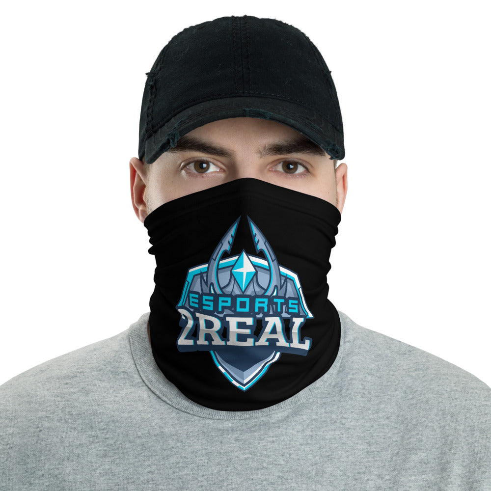 t-2r FACE MASK/ NECK GAITER BLACK