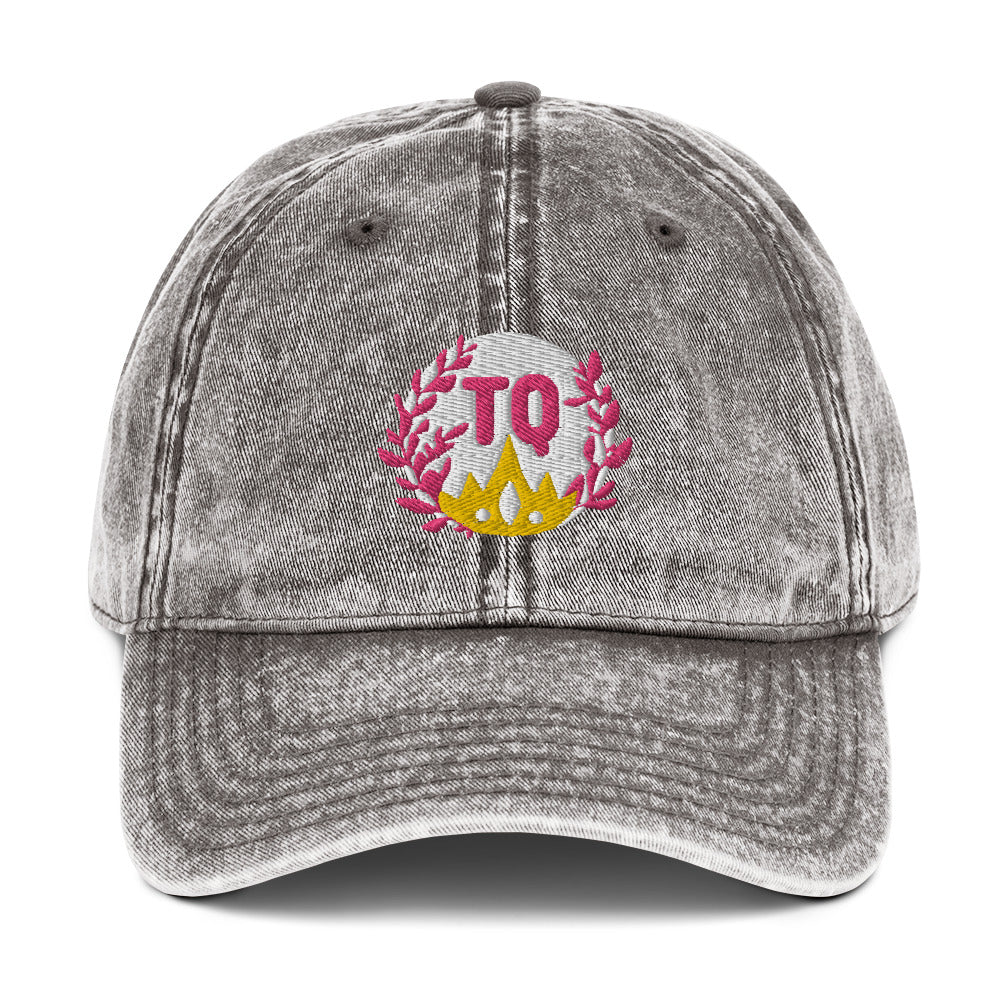 s-tq EMBROIDERED VINTAGE HAT