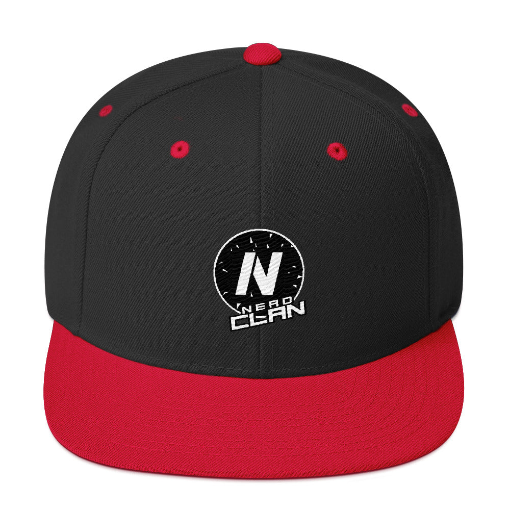 s-nc EMBROIDERED FLAT BRIM SNAPBACK HAT