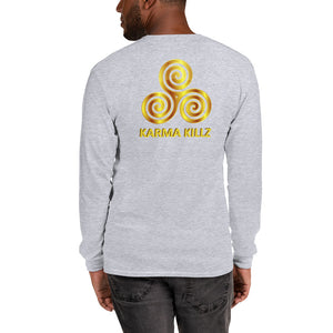 s-kk LONG SLEEVE SHIRT front and back