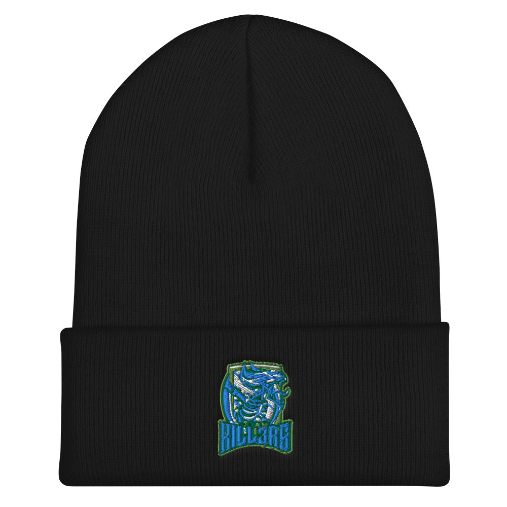 t-ki EMBROIDERED CUFFED BEANIE