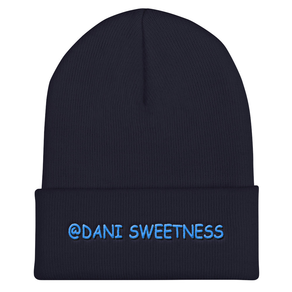 s-da PUFF EMBROIDERED CUFF BEANIE