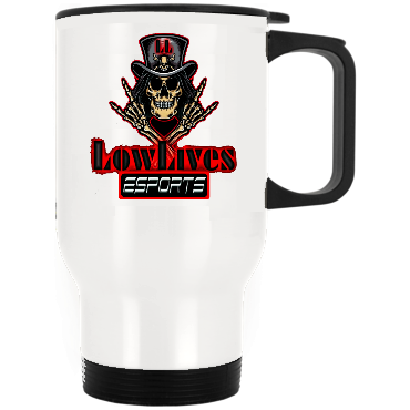 t-LL WHITE STAINLESS STEEL TRAVEL MUG