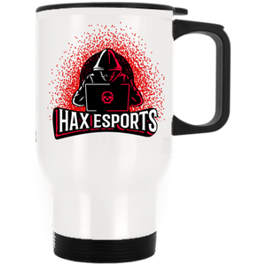 t-hax WHITE STAINLESS STEEL TRAVEL MUG