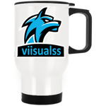 t-vis WHITE STAINLESS STEEL TRAVEL MUG