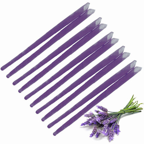 10x Lavender Ear Candles, Protector Disc & Leaflet