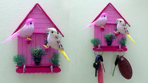 Key holder making with Popsicle sticks | Best out of waste | art and crafts In this video