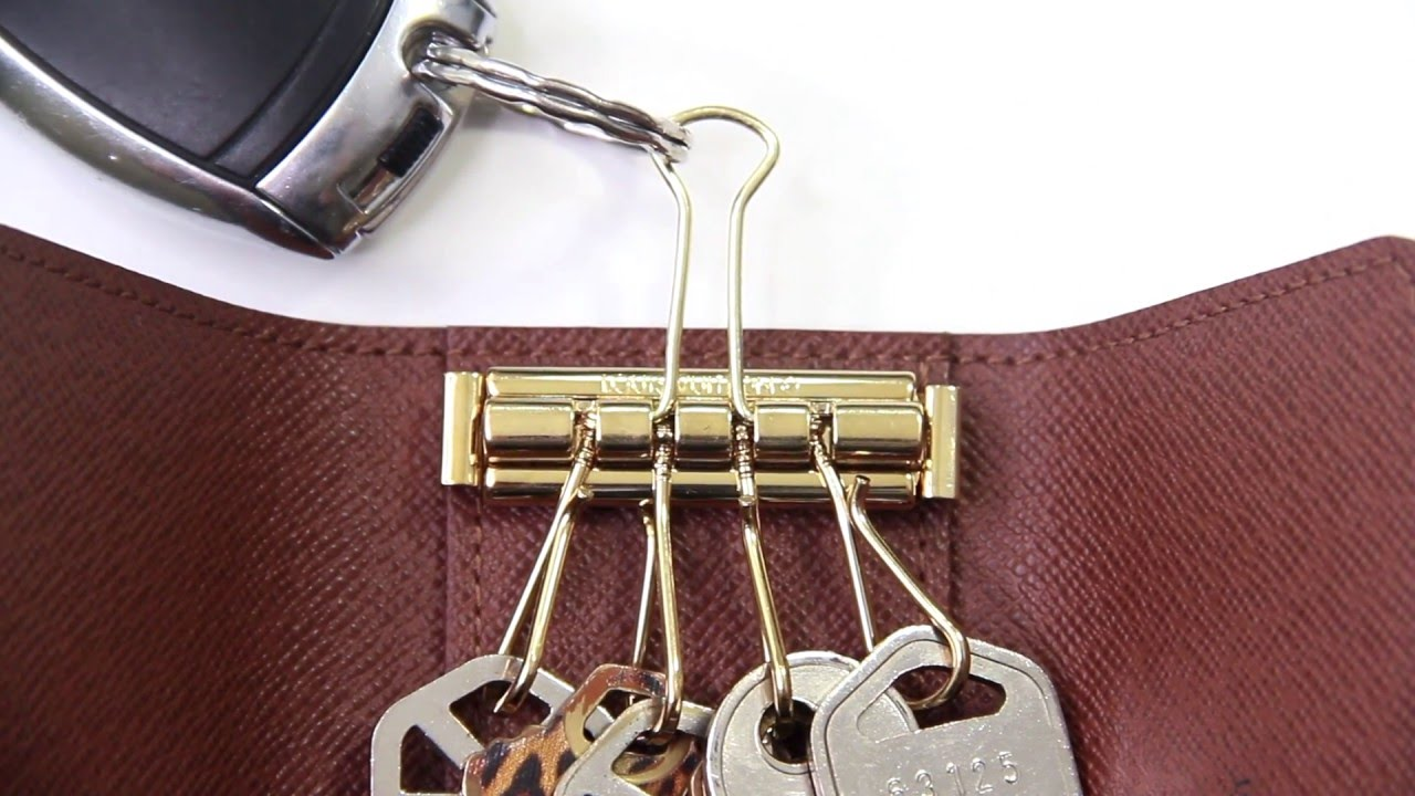 Here is a simple solution to making the Louis Vuitton Key Holder attachable to your key fob, key chain, or key ring without having to use its key hook