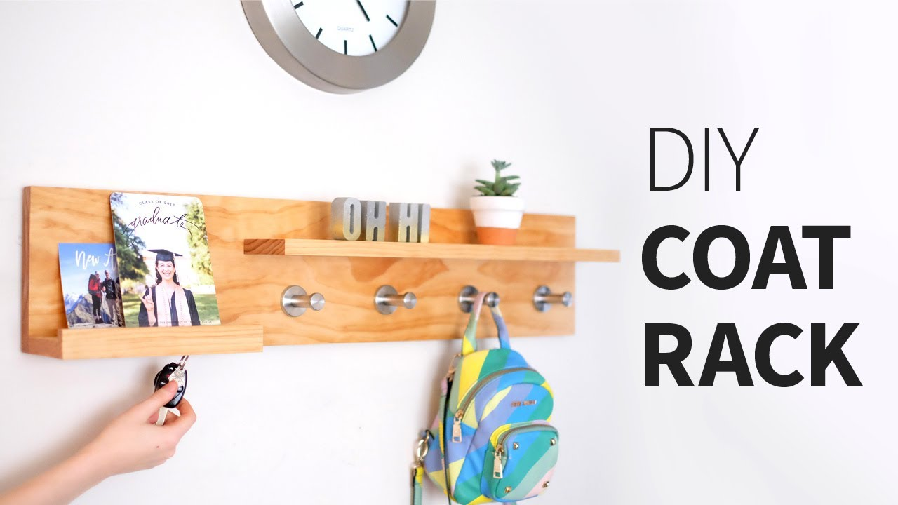 materials & links below! What do you call something that is a coat rack, magnetic key ring holder, entryway organizer, mail storage, floating shelf… thing?