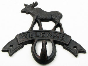 Cast Iron Moose Key Hook