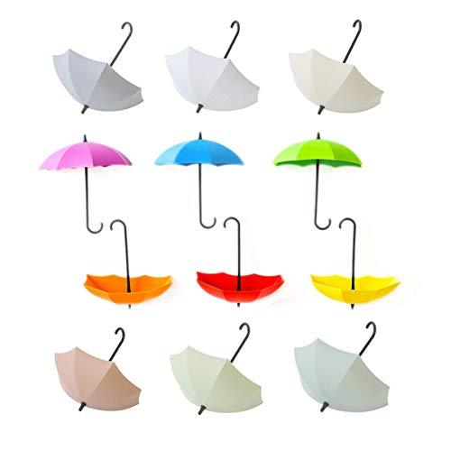 12Pcs Key Holders,12 Colorful Umbrella Shape Hooks,Wall Key Holder,Key Organizer For Keys, Jewelry And Other Small Items