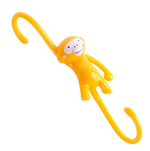 Cute Cartoon Monkey S Type Hook Kitchen Bathroom Plastic Hook