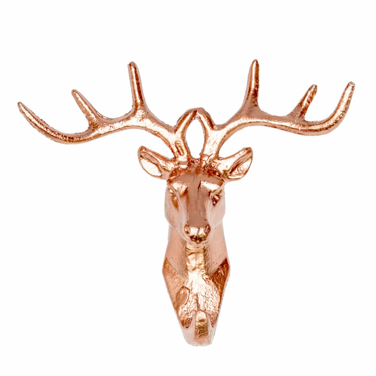 Cast Iron Stag's Head Hook Copper