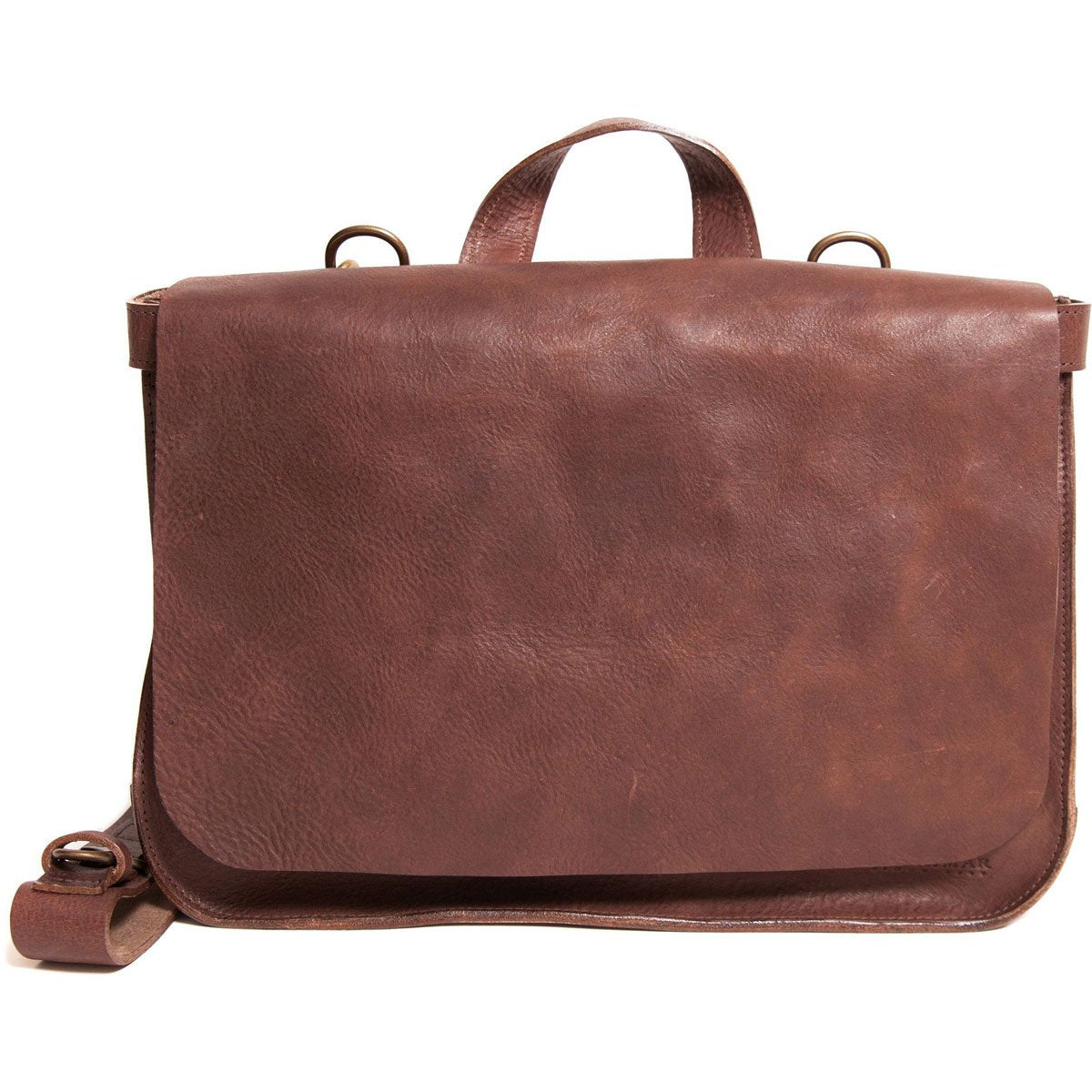 Korchmar Saddle Collection Dallas Natural Leather Postal Bag
