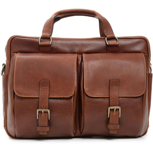 Korchmar Milled Collection Barton Leather Laptop Briefcase