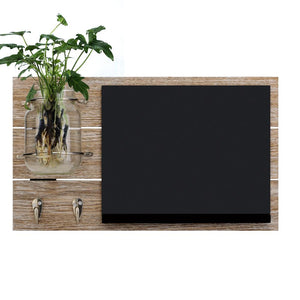 Chalkboard key hook with mason jar