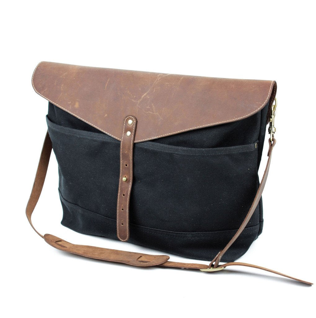 Workers Supply Postman Messenger Bag in Black