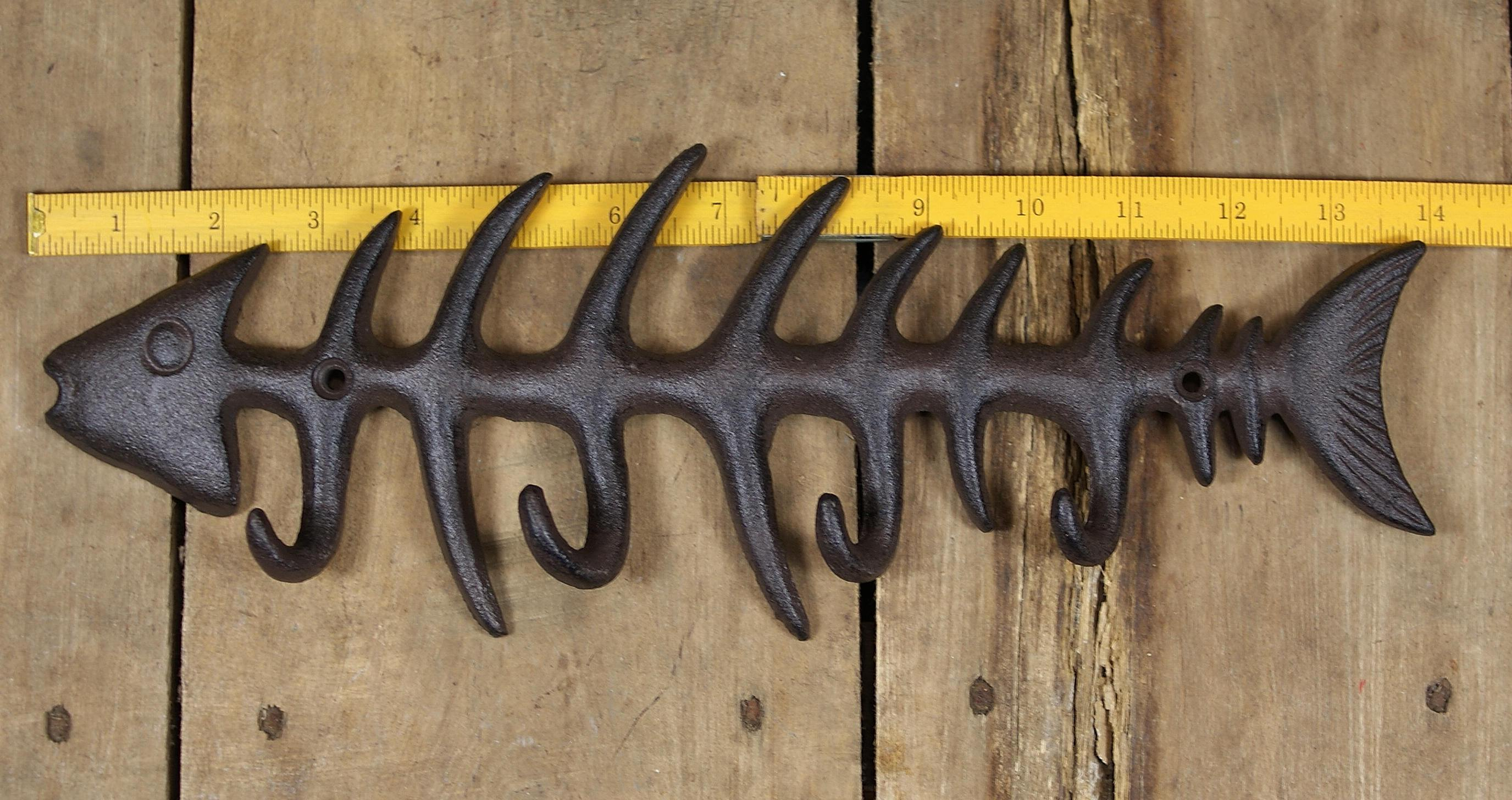 Black 13.5 Inch Fishbone Key Hook