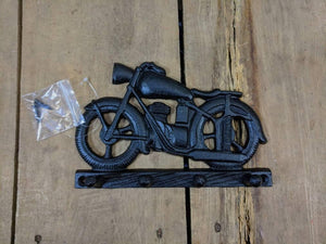 Black Cast Iron Motorbike Key Hook Rack