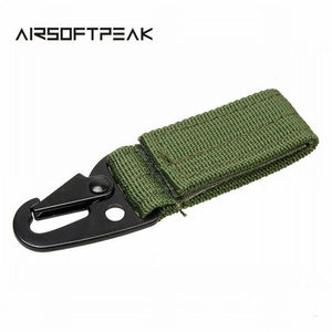 Carabiner High Strength Nylon Tactical Backpack Key Hook Webbing Buckle Hanging System Molle Waist Belt Buckle Outdoor Tools