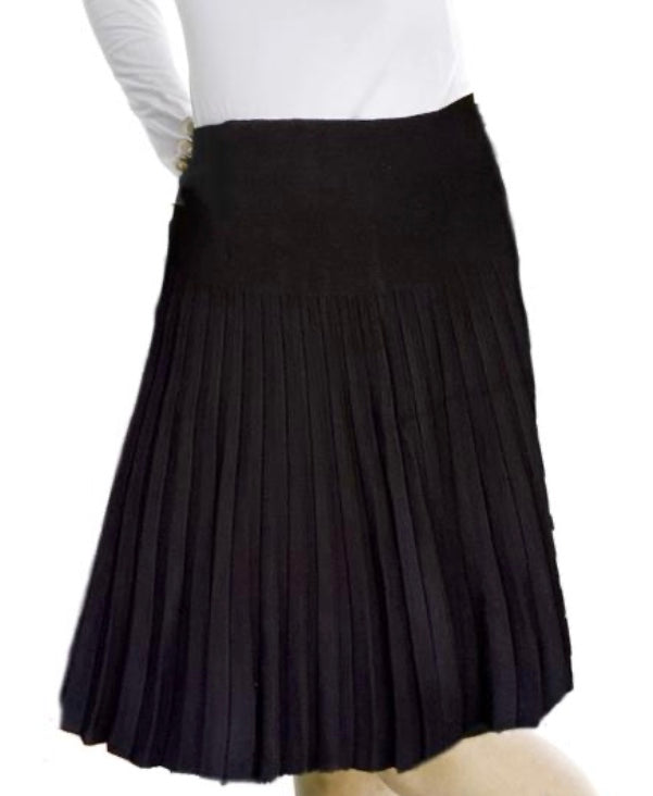 MM pleated black skirt