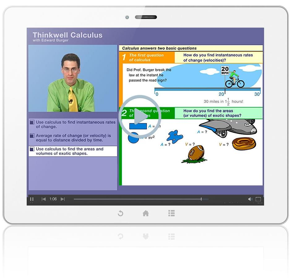 Thinkwell's Calculus with Professor Edward Burger Sample Video Lesson