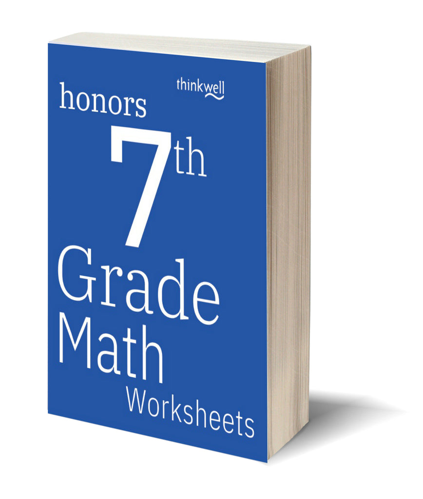 honors 7th grade math worksheets and answer keys thinkwell homeschool. Black Bedroom Furniture Sets. Home Design Ideas