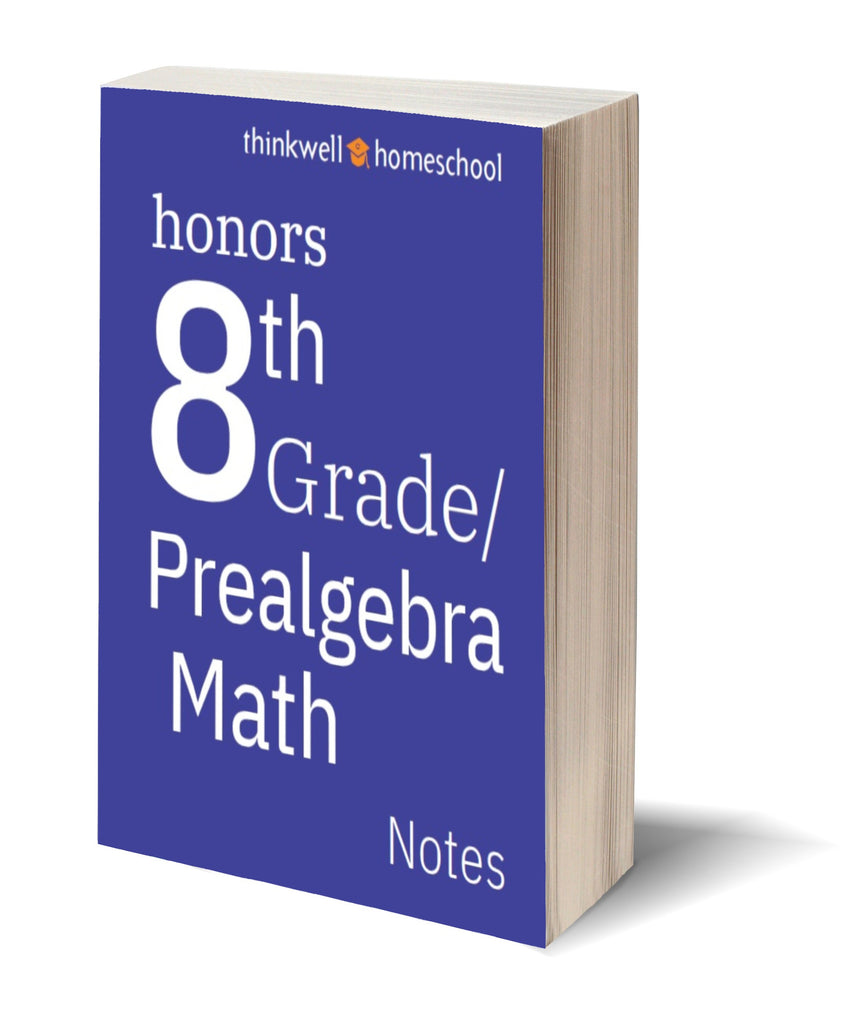 Honors 8th Grade Math (Prealgebra) Printed Notes