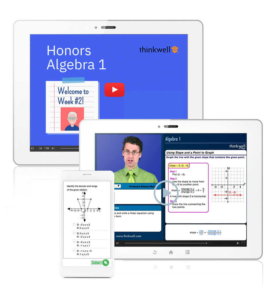 Honors Algebra 1 Online Course with Instructor, Semester 1 - Registration