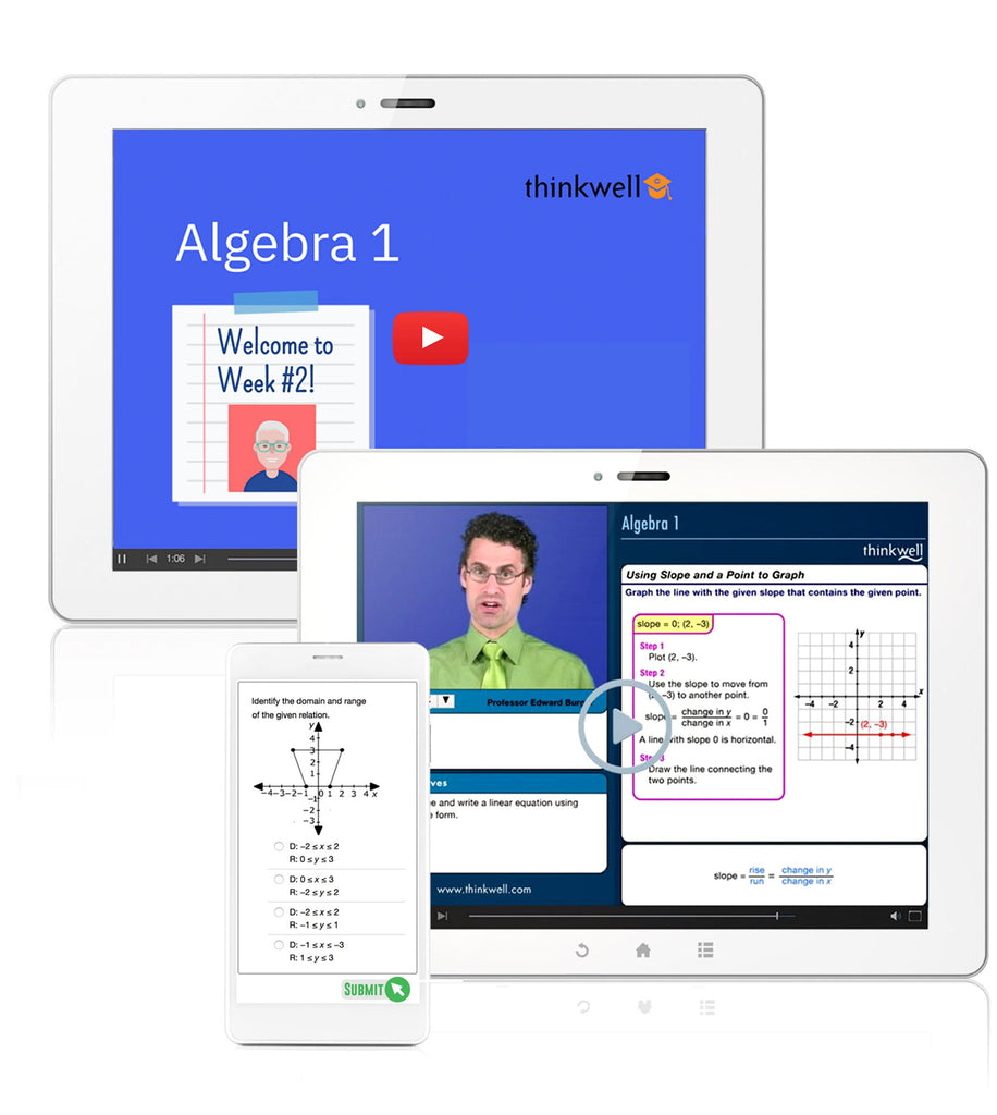 Algebra 1 Online Course with Instructor, Semester 2 - Registration