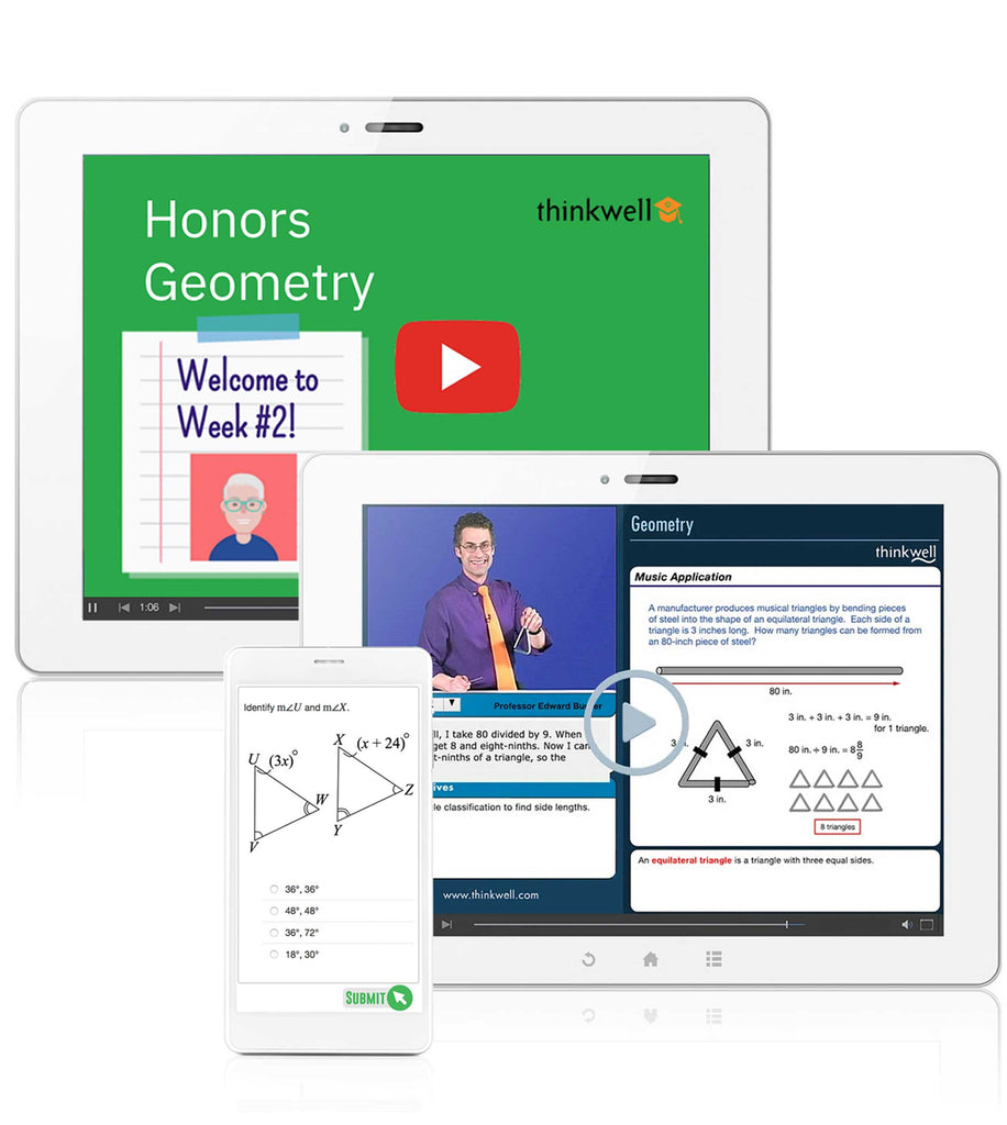 Honors Geometry Online Course with Instructor, Semester 1 - Registration