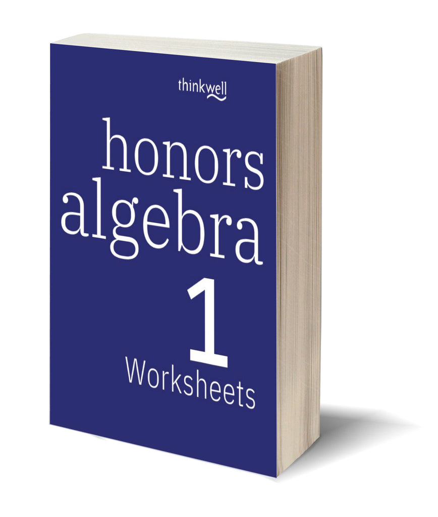 honors algebra 1 worksheets and answer keys thinkwell homeschool. Black Bedroom Furniture Sets. Home Design Ideas