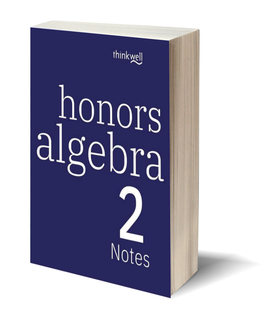 Honors Algebra 2 Printed Notes