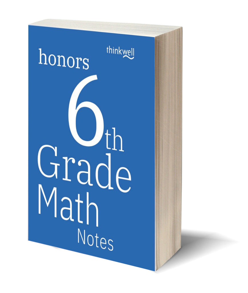 Honors 6th Grade Math Printed Notes