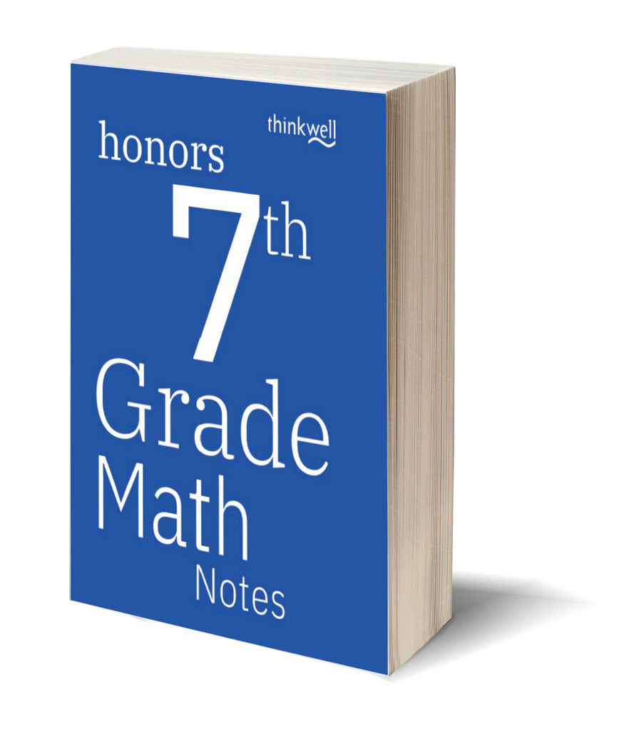 Honors 7th Grade Math Printed Notes
