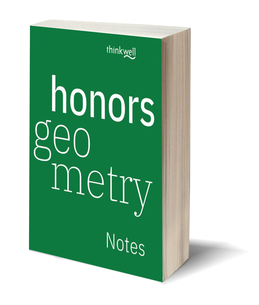 Honors Geometry, Printed Notes