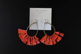 Raffia Fan Teardrop Earring