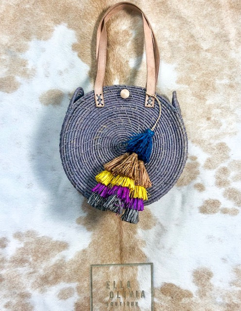 Bamboo 12 Inch Purse with Large Tassel