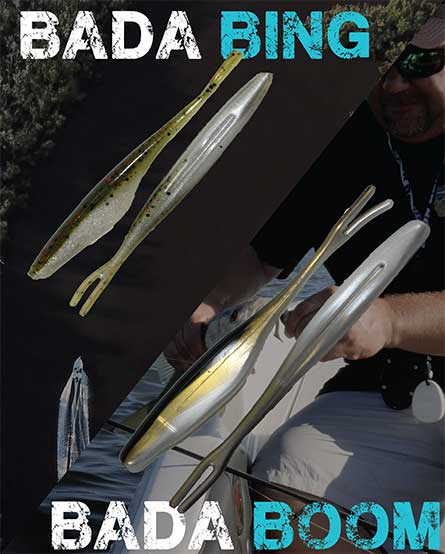 What is the difference between the WGT Bada Bing! and Bada Boom! soft plastic jerkbaits?