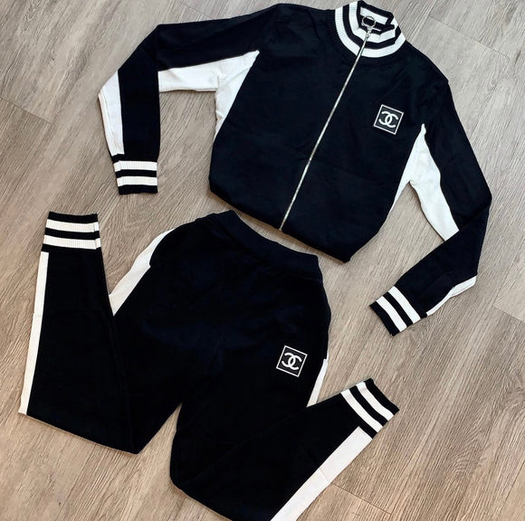Chantel Jogger Set (Black)