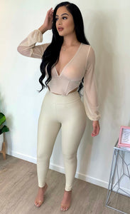 Maya Leggings (Nude)