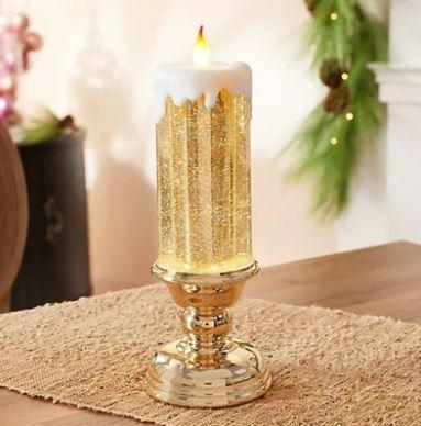 Magical Colour Electronic LED Waterproof Candle With Glitter