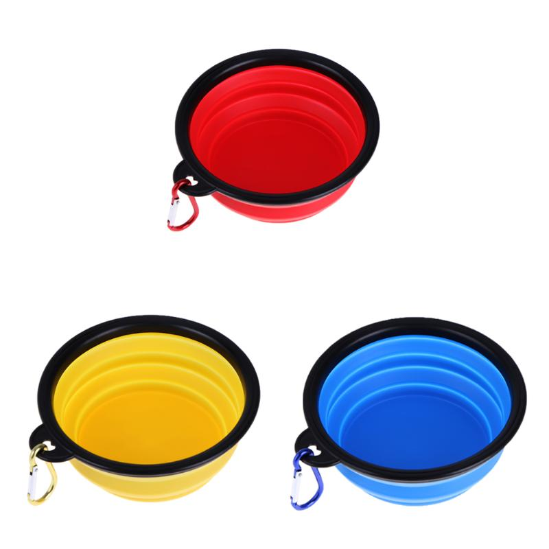 Portable Folding Feeding silicine Bowl