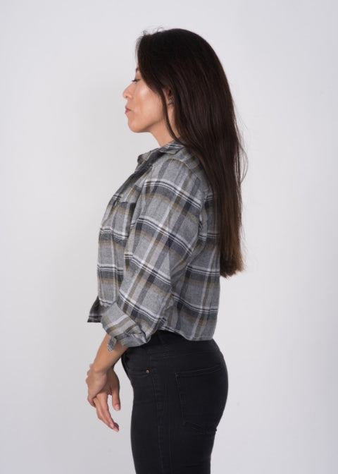 ARTURO Cropped Flannel Shirt