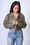Tristan (the) Cheetah Print Cropped Jacket
