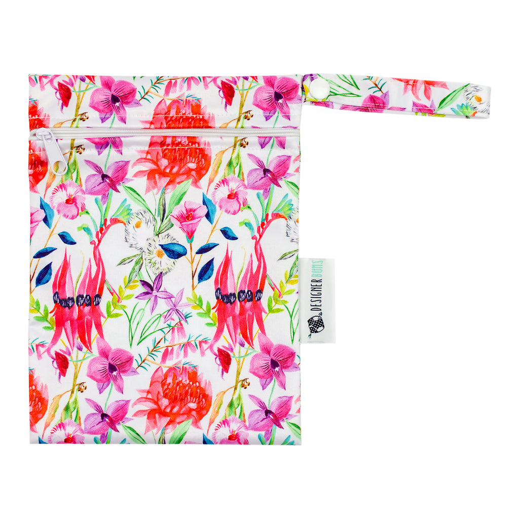 Floral Federation Mini Wet Bag Nappies Designer Bums