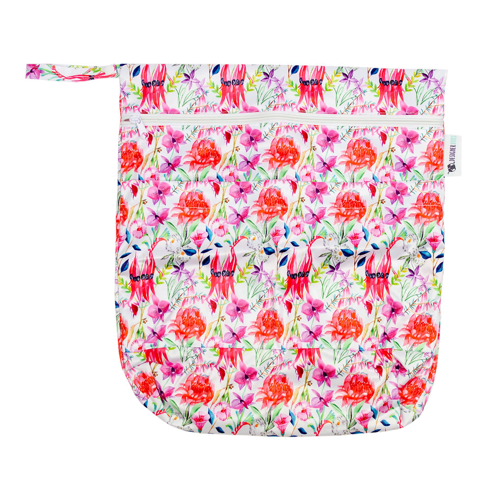 Floral Federation Wet Bag Nappies Designer Bums