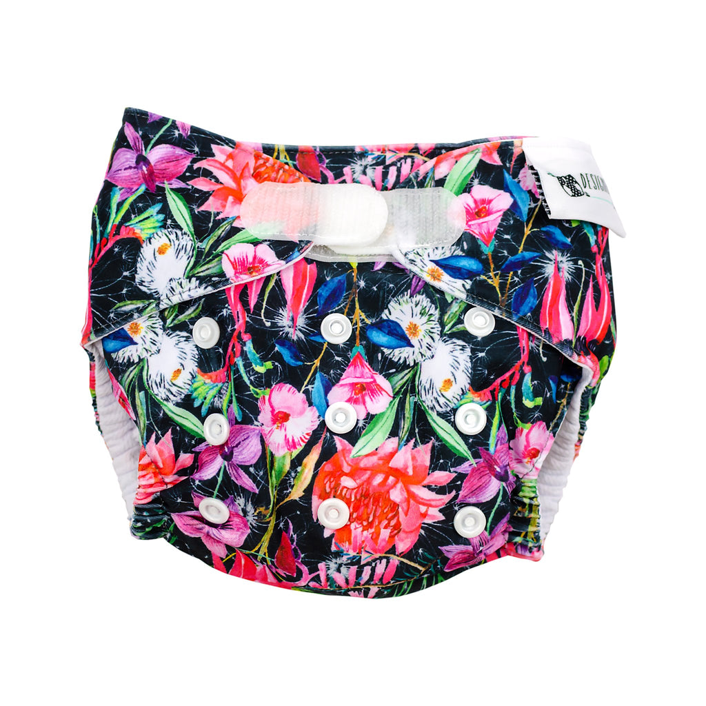 Night Garden Swim Velcro Nappies Designer Bums