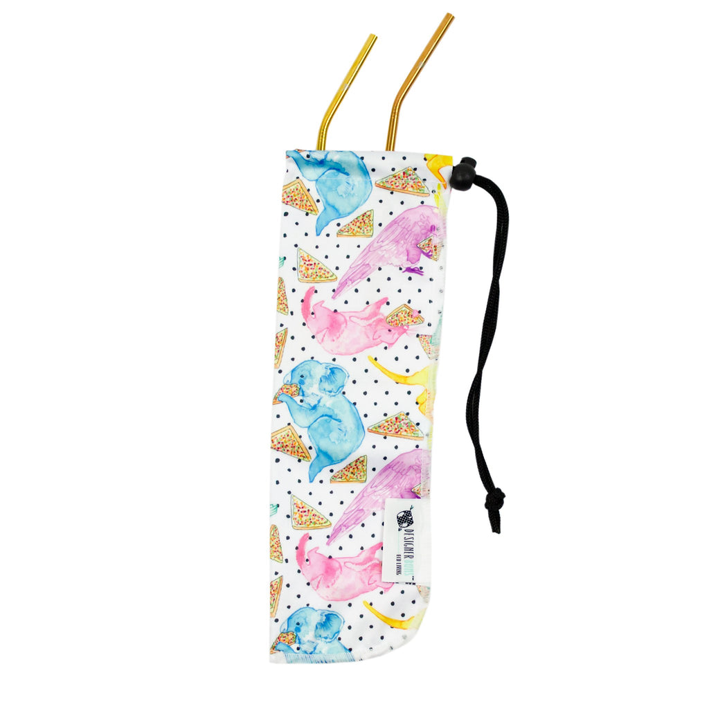 Party Animals Straw Pouch