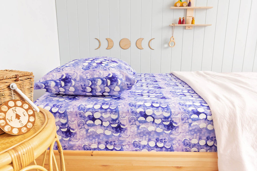 Amethyst Moon Pillow Cover
